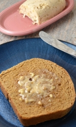Homemade Whole Wheat Bread with Honey Nut Cinnamon Butter