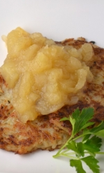 Potato Pancakes with Honey Crisp Apple Sauce