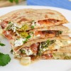 Herbed Goat Cheese, Roasted Tomato, and Asparagus Quesadilla