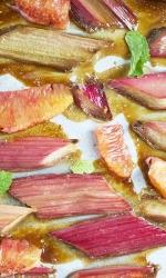 Baked Brown Sugar Rhubarb with Blood Orange