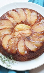 Peach Lemon Thyme Upside Down Cake
