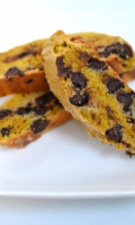 Pumpkin Chocolate Chip Soft Biscotti