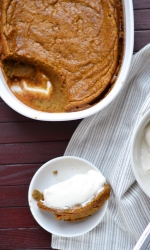 Baked Pumpkin Spice Pudding