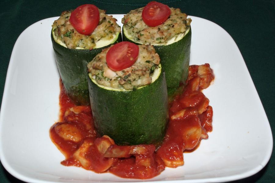 Tuna Stuffed Zucchini