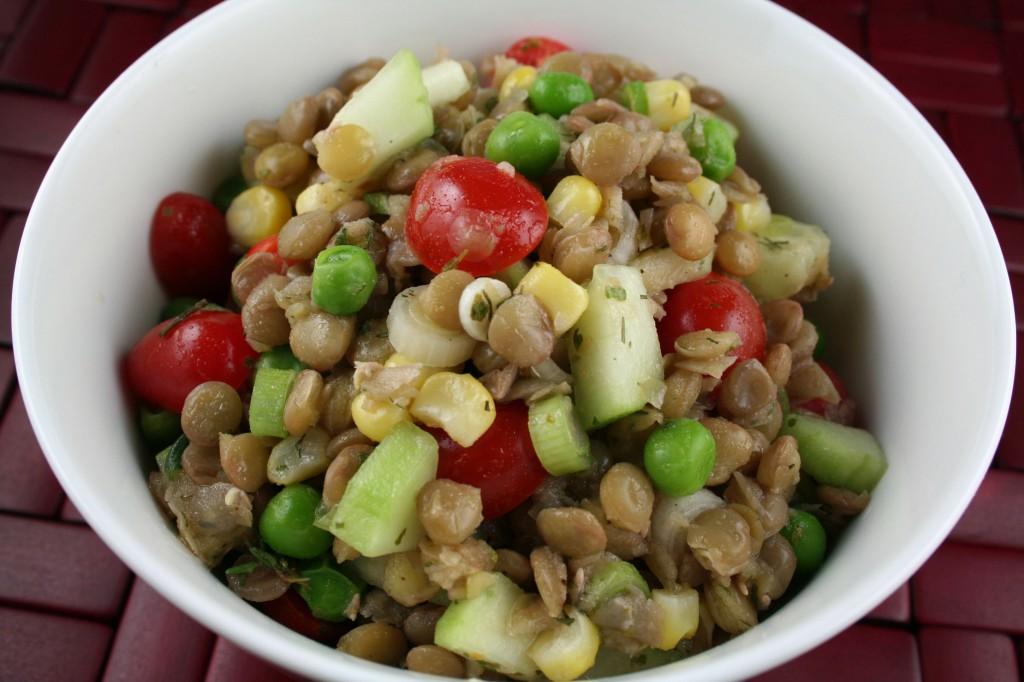 Paula Peck Marinated Lentil Salad
