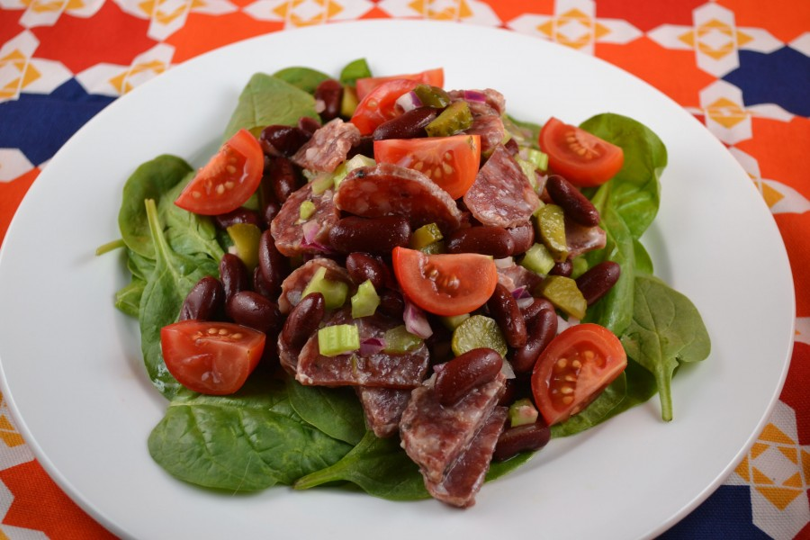 Red Bean and Sausage Salad