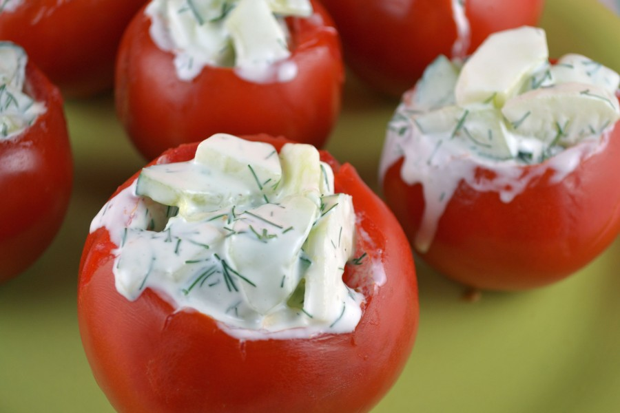 Danish Stuffed Tomatoes