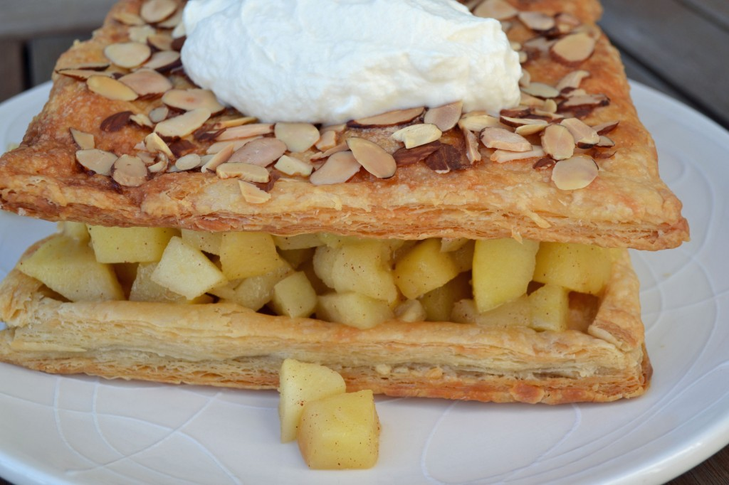 Sauteed Apple Cake with Whipped Cream