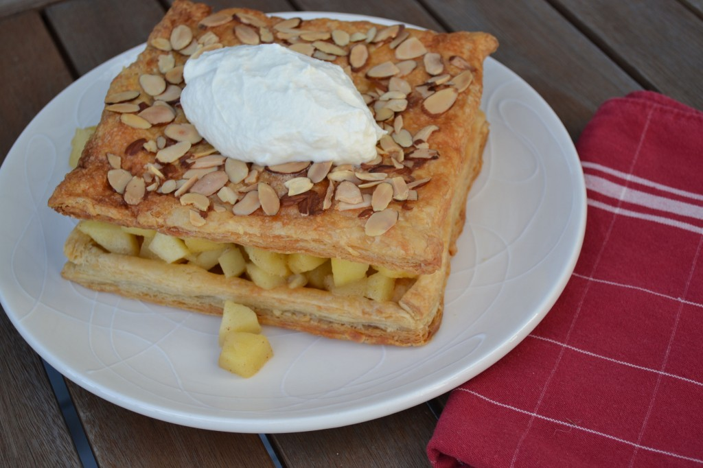 Sauteed Apple Cake with Almonds