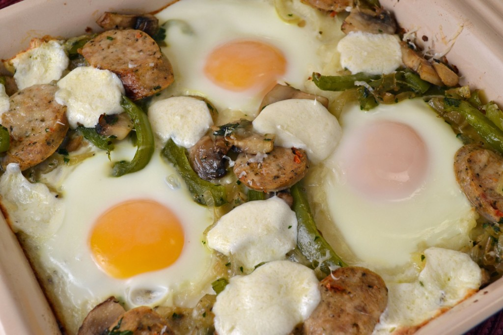 Egg Sausage and Mashed Potato Pizza