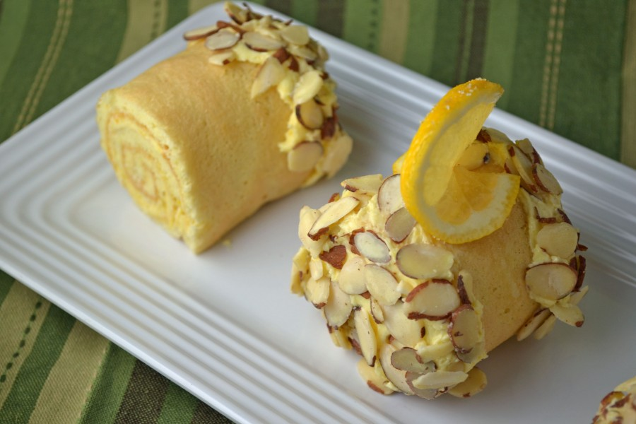 Lemon Cake Logs