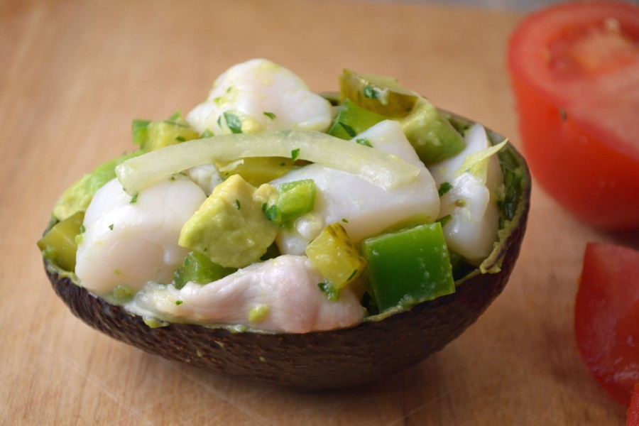 Ceviche Avocado Shell