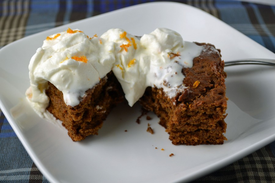 Gingerbread with Orange Scented Whipped Cream