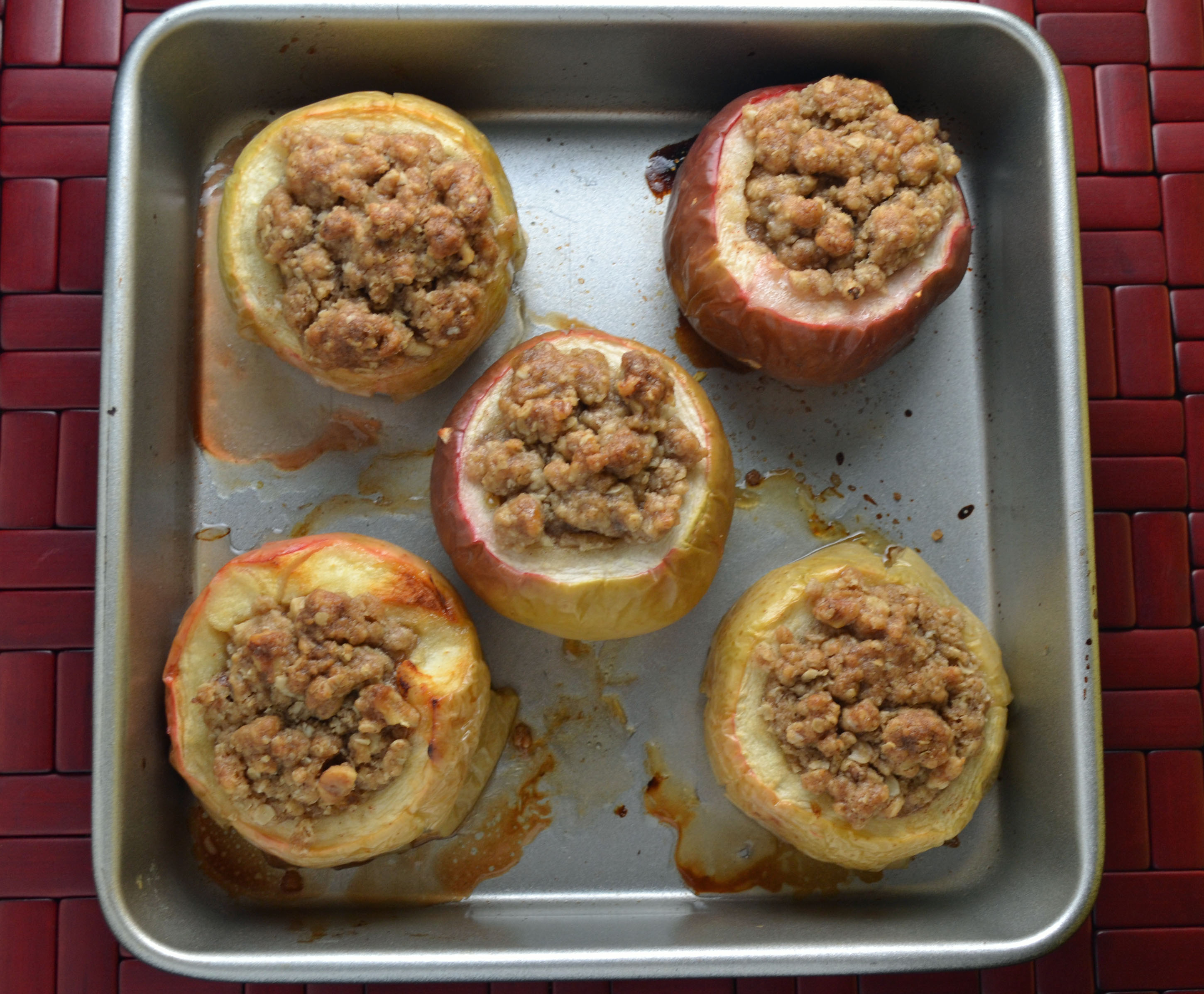 Stuffed Baked Apples with Caramel Sauce - Megan Peck Cooks