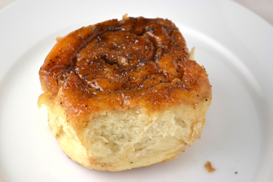 Poppy Seed Cinnamon Roll
