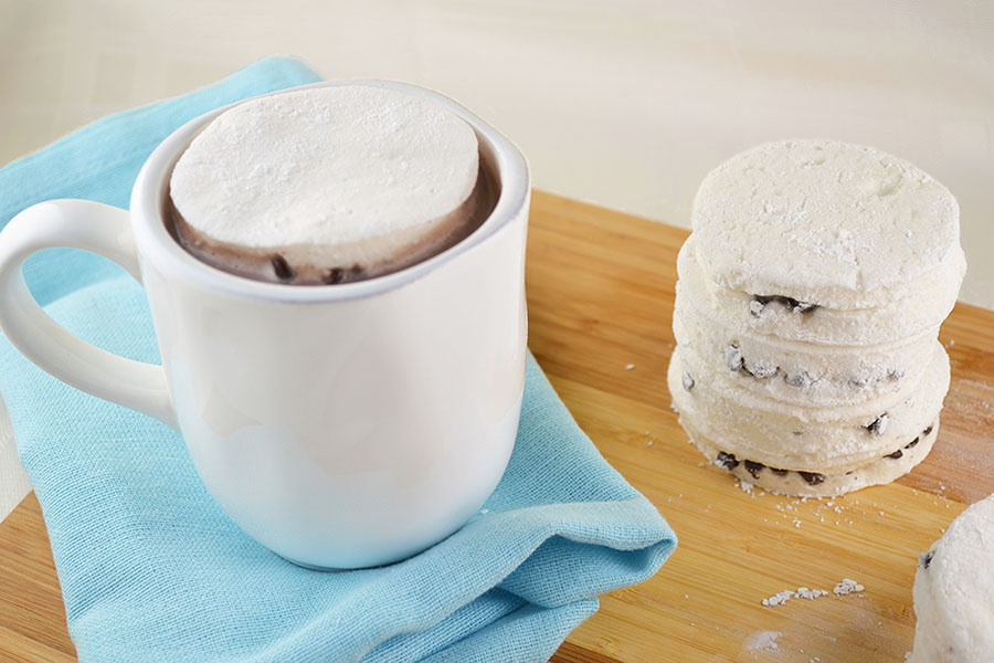 Chocolate Chip Stuffed Marshmallow Mug Toppers