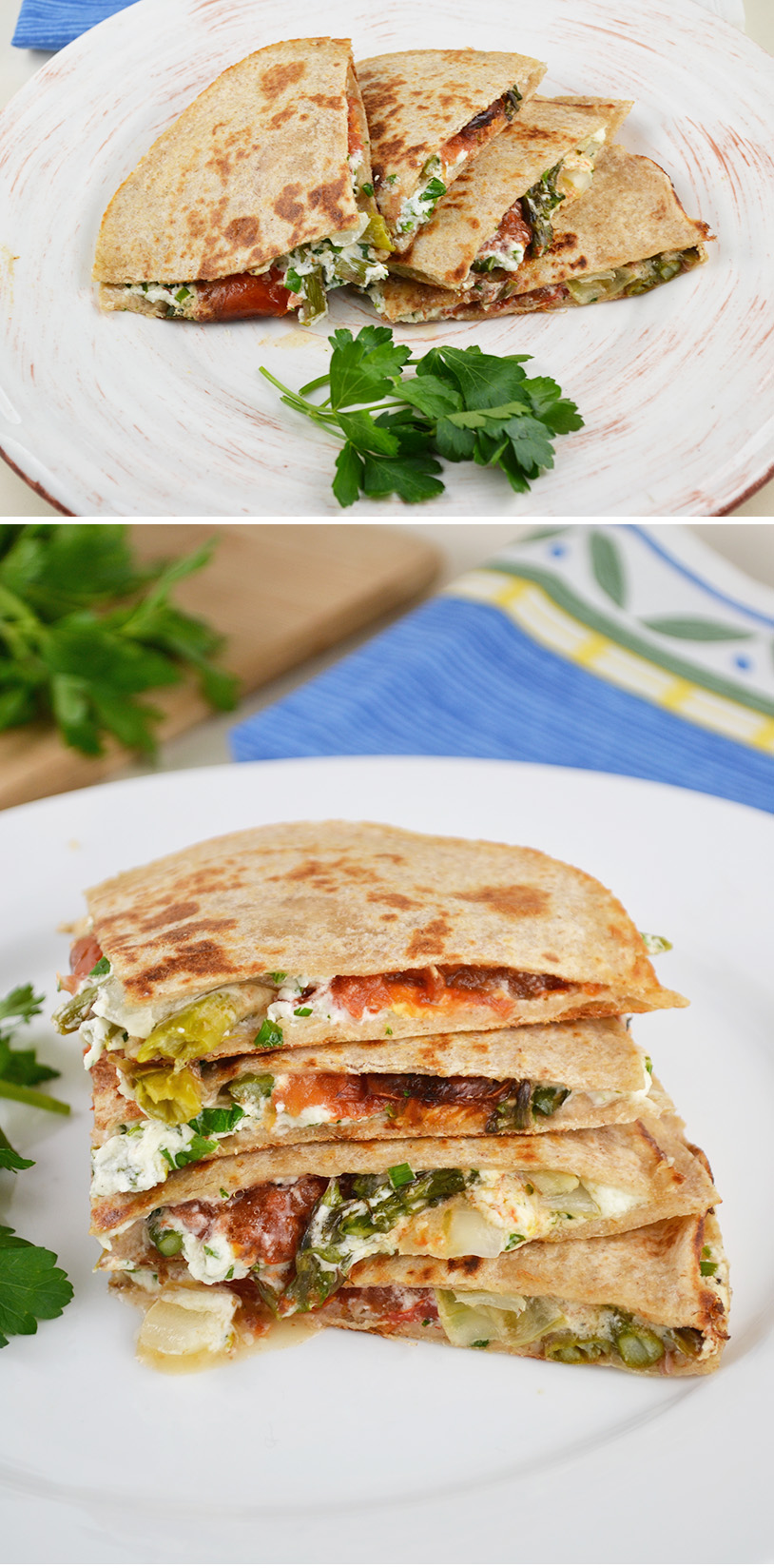 Goat Cheese Roasted Tomato Quesadilla