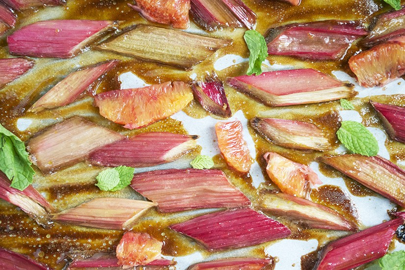 Baked Sugared Rhubarb