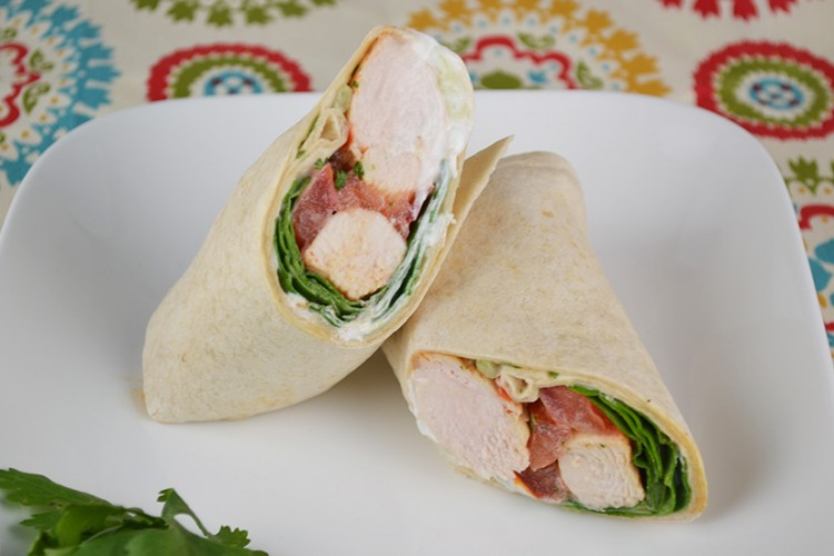 Indian Spiced Chicken Wrap