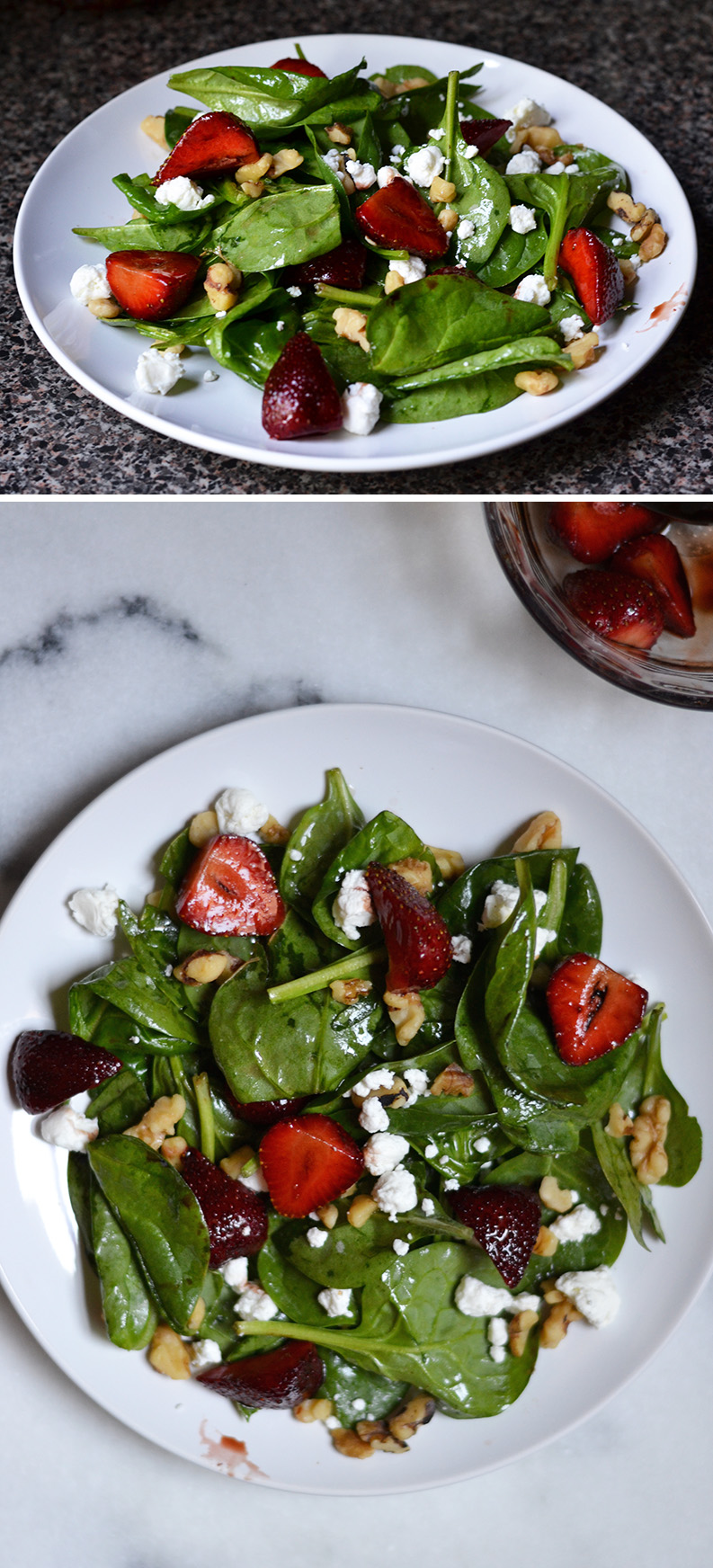 Balsamic Strawberries and Goat Cheese Salad