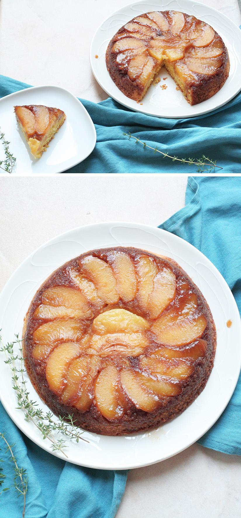 Peach Lemon Thyme Upside Down Cake