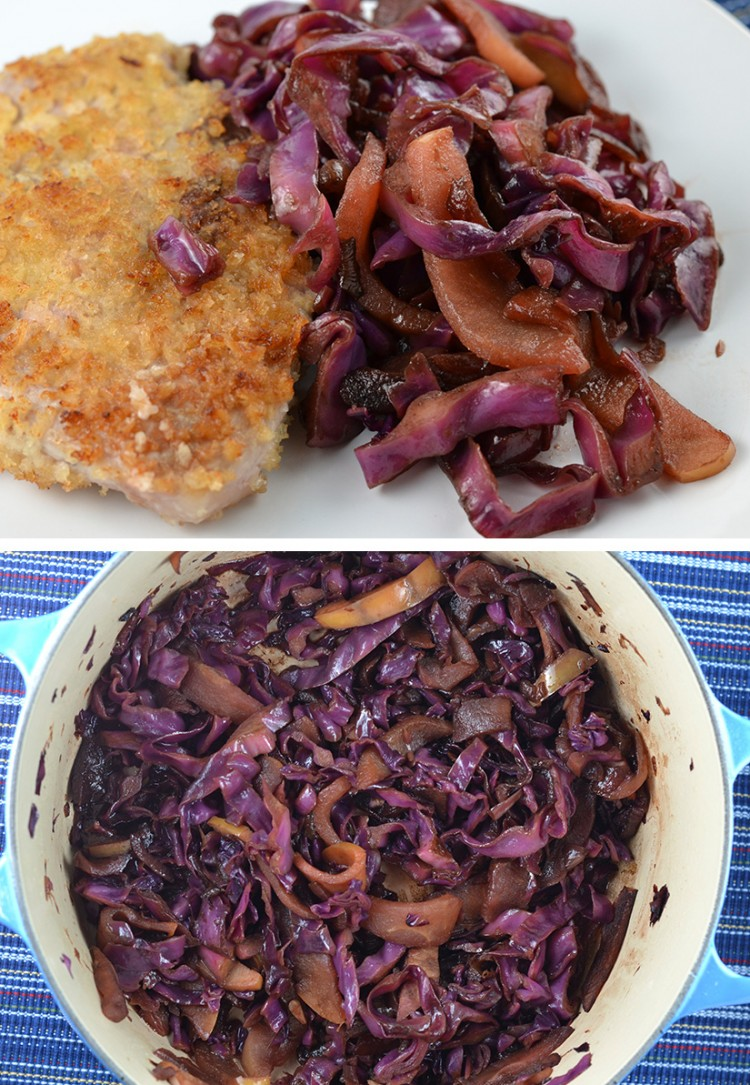 Balsamic Braised Cabbage and Apples