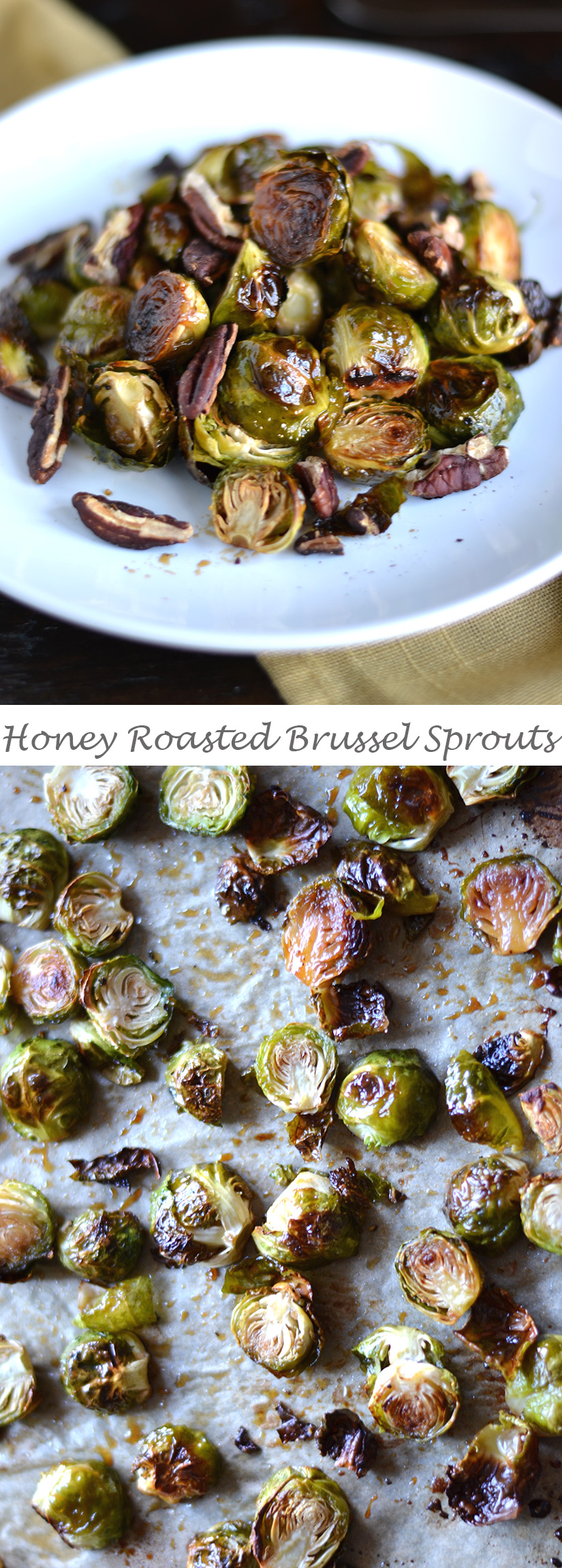 Honey Glazed Brussel Sprouts with Pecans | impeckableeats.com
