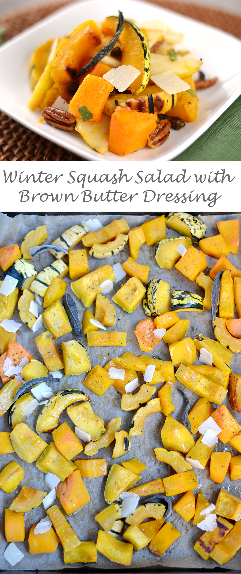 Winter Squash Salad with Brown Butter Apple Cider Dressing