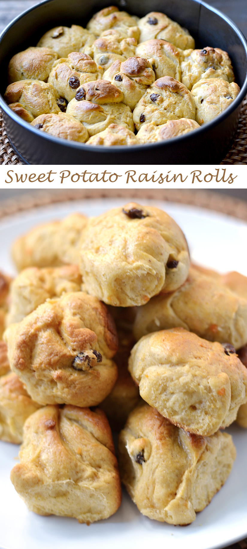 Soft Sweet Potato Rolls with Raisins | ImPECKable Eats