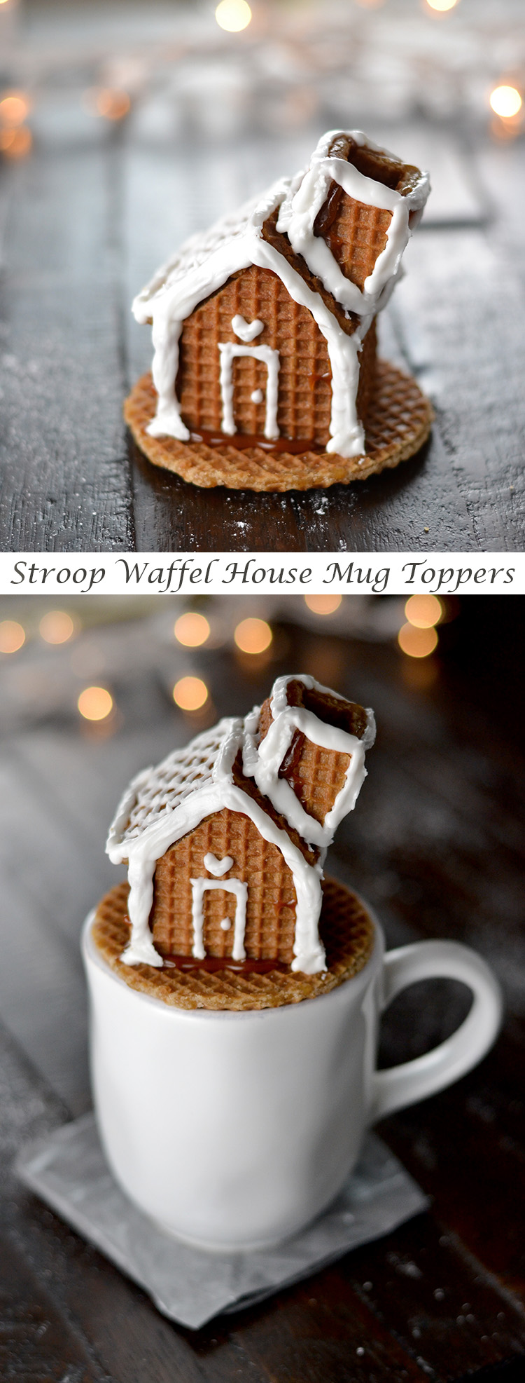 Stroopwafel House Mug Toppers