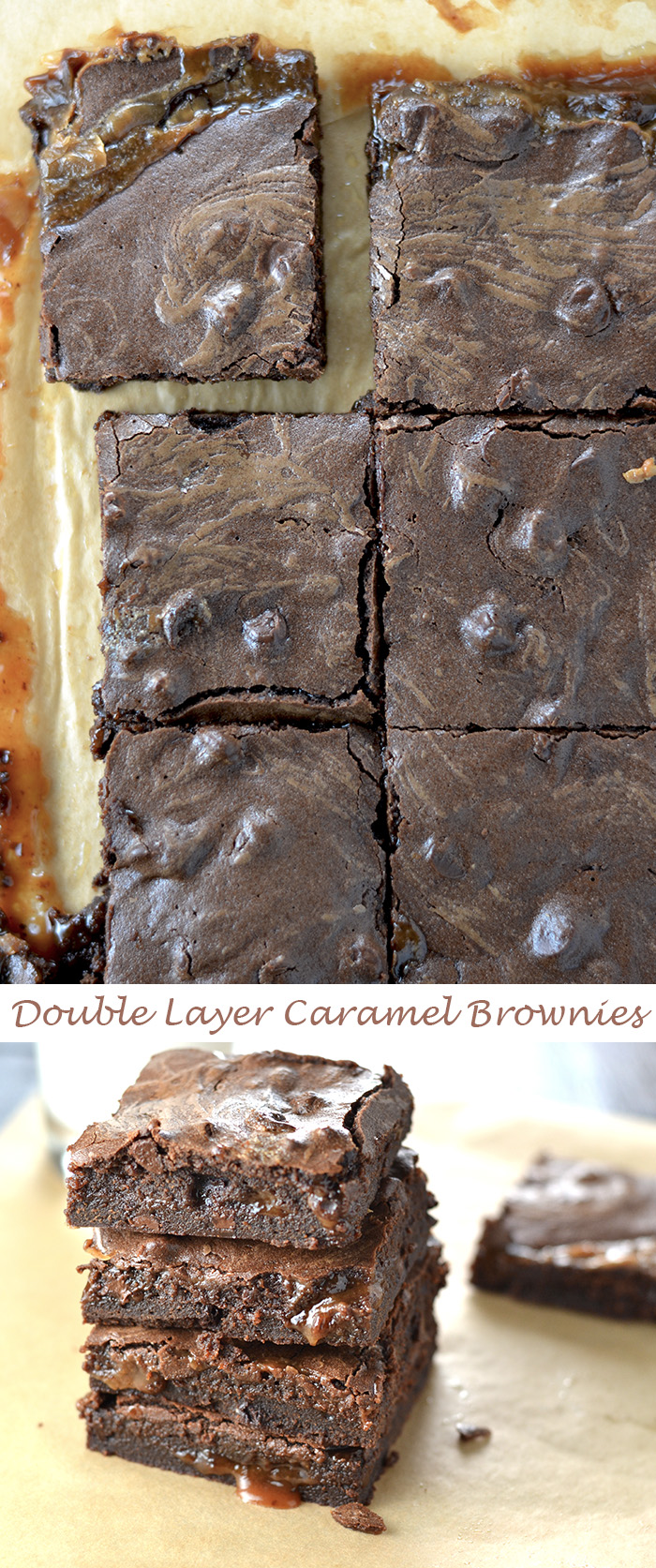 Double Caramel Layer Brownies - Pure Decadence