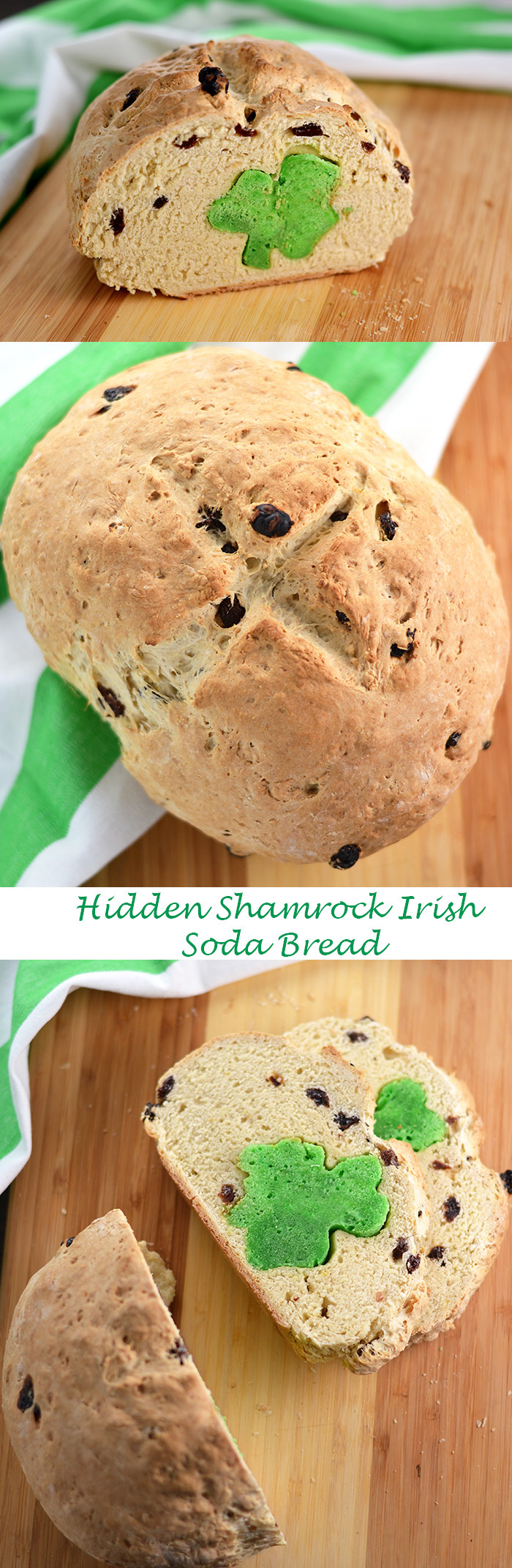Hidden Shamrock Soda Bread