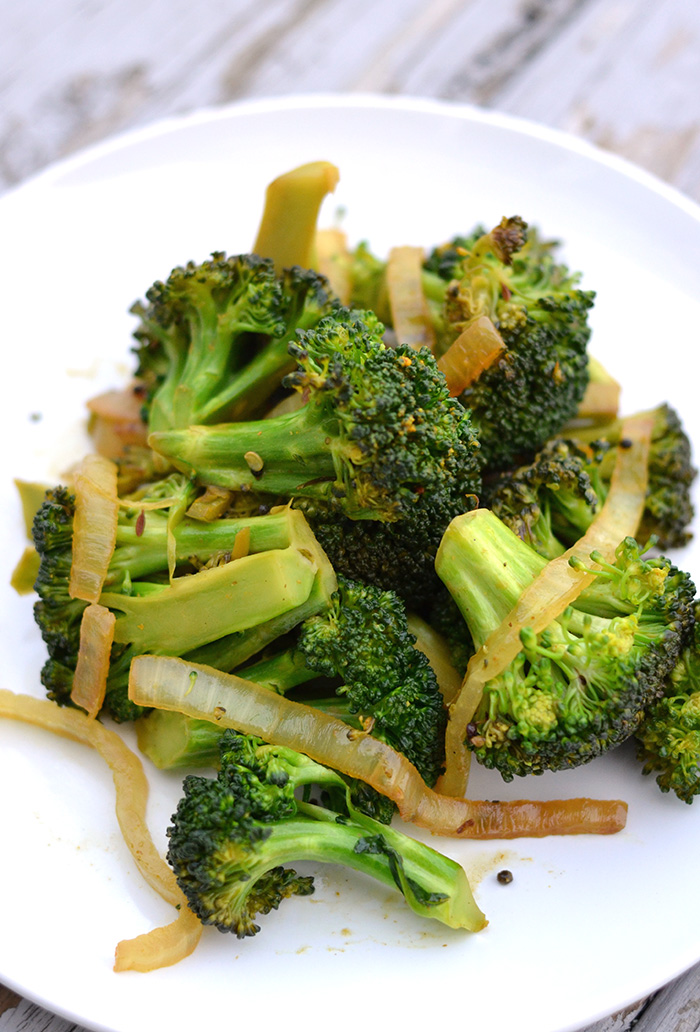 Spicy Cumin Scented Broccoli