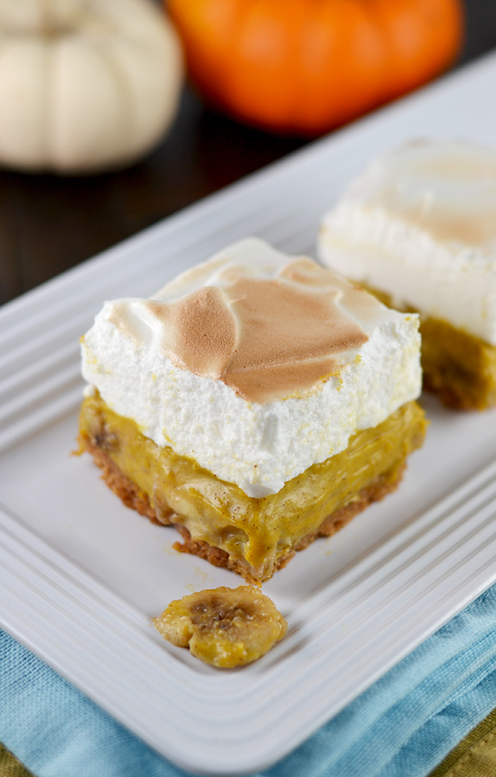 Pumpkin Banana Cream Pie Bars
