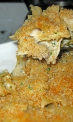 Creamed Oyster and Noodle Casserole