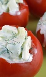 Tzadziki Stuffed Tomatoes