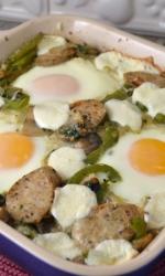 Mashed Potato Egg and Sausage Pizza