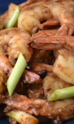 Chinese Style Shrimp with Black Bean Sauce