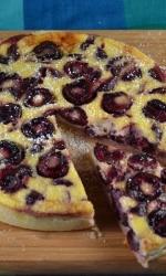 Sour Cream Custard Cherry Tart