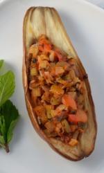 Veggie Stuffed Eggplant - Imam Bayeldi