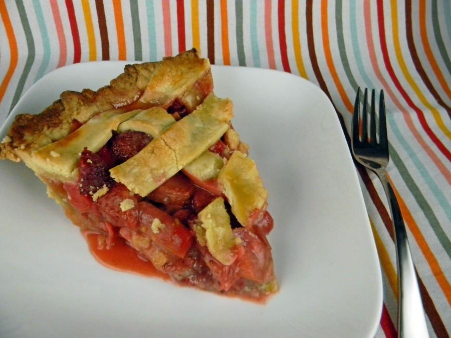Strawberry Rhubarb Pie Slice