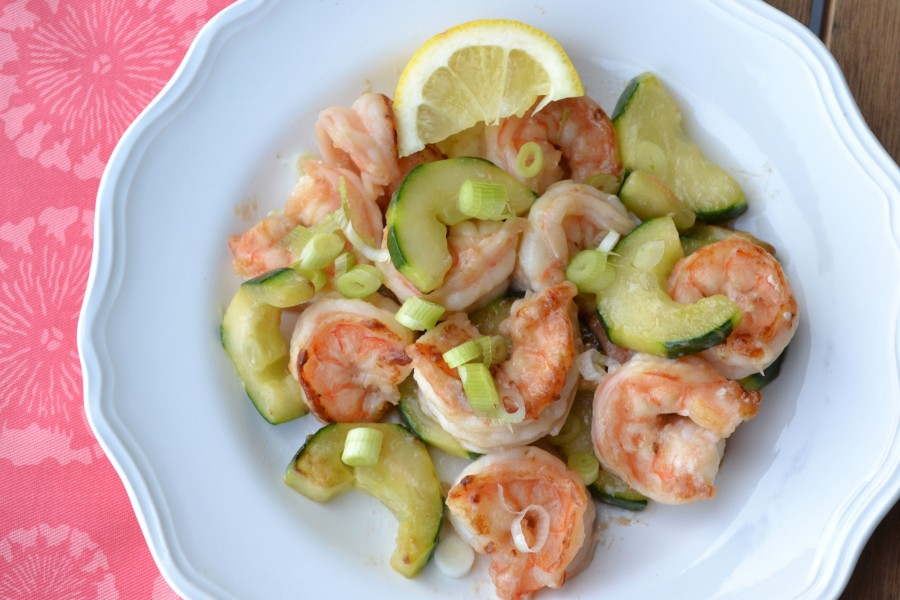 Chinese Shrimp with Cucumber