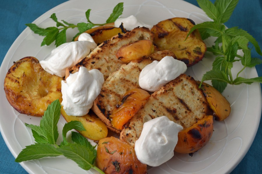 Grilled Princess Pound Cake with Peaches