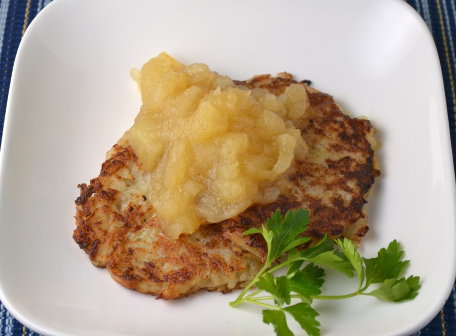 Potato Pancakes with Honey Crisp Apple Sauce