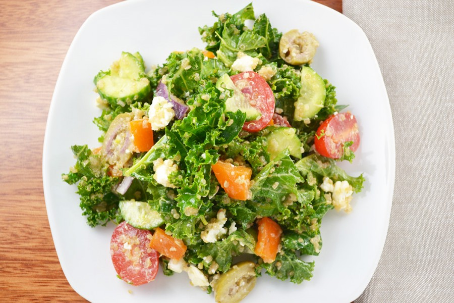 Greek Kale Salad | imPECKableeats.com
